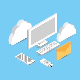 Computer mit cloud-datenservice verbinden