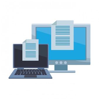 Computer mit dokumenten