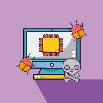 Computer mit prozessor und bugs