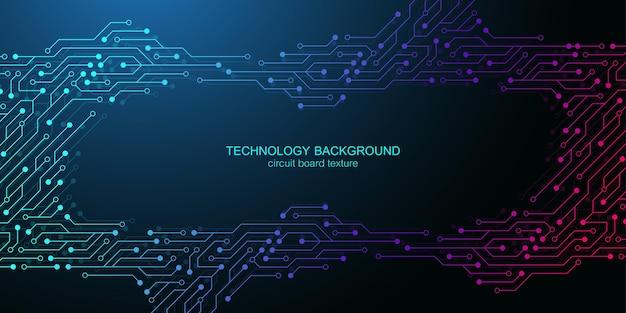 Computer-motherboard-vektorhintergrund mit elektronischen elementen der leiterplatte. elektronische textur für computertechnologie, engineering-konzept. motherboard-computer generierte abstrakte darstellung.