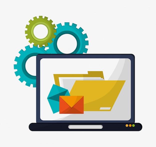 Computer ordner datei e-mail-getriebe