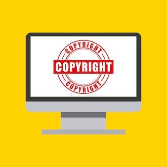 Computer-symbol. urheberrecht design. vektorgrafik