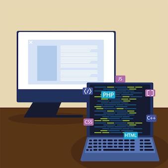 Computer und laptop