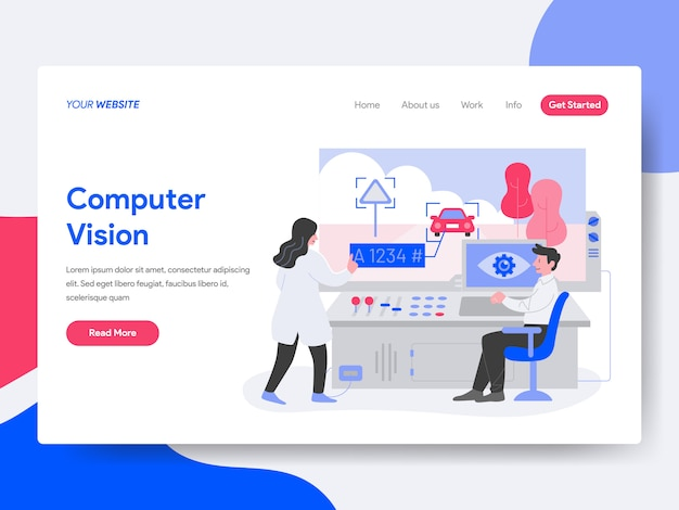 Computer vision illustration