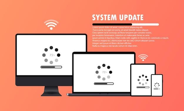 Computerbildschirm, laptop, tablet und smartphone Premium Vektoren