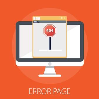 Computerbildschirm mit 404 fehler