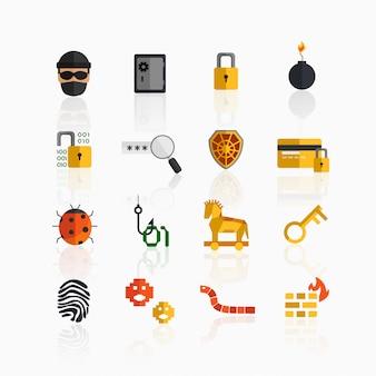 Computerkriminelle symbole