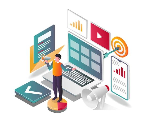 Computermarketing und werbekampagnen