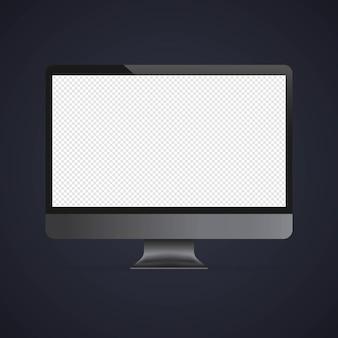 Computermonitor-mockup-banner. vektor auf isoliertem hintergrund. eps 10.