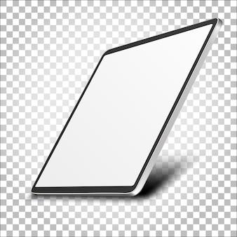 Computermonitoranzeige mit leerem bildschirm lokalisiert auf transparentem hintergrund. vorderansicht.