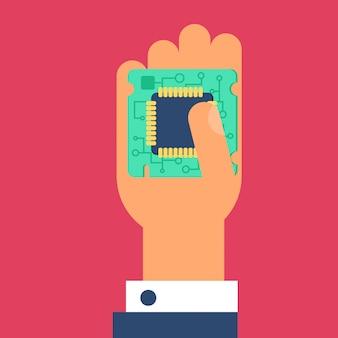 Computerprozessor-chip