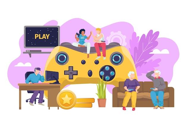 Computerspiel-joystick für alle