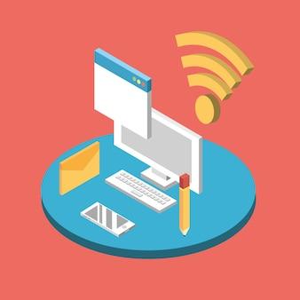 Computertechnologie mit datendiensten verbinden