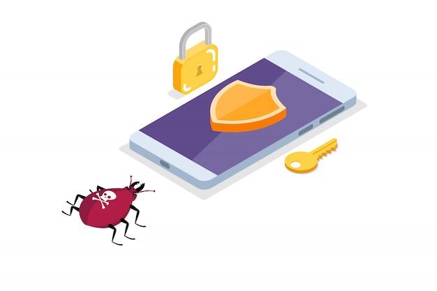 Computervirus, isometrisches datenschutzkonzept