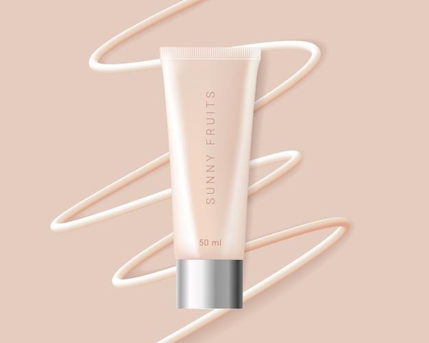 Concealer, foundation kosmetik anzeigen vorlage