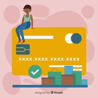Concept landing page kreditkartenzahlung