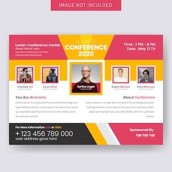 Conference horizontale flyer vorlage