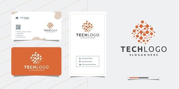 Connect design technologie netzwerkdesign und visitenkartendesign