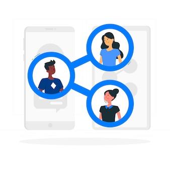 Connected konzept illustration