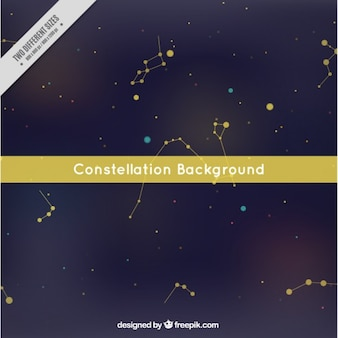 Constellation hintergrund mit gelben kreise