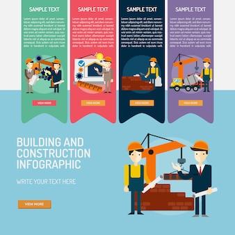 Construcion infografik-vorlage
