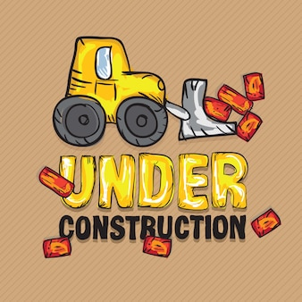 Construction icons trucks (im bau befindlicher baggerlader)