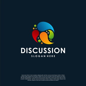 Consult-logo, bunte consulting-logo-vorlage, bunte chat-blasen-logo-designs