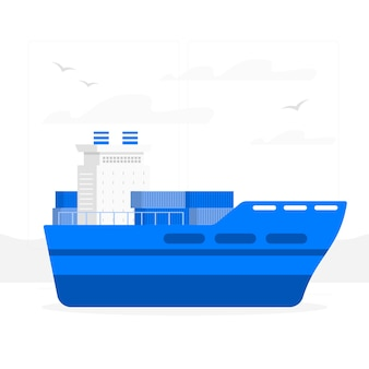 Containerschiff-konzept-illustration