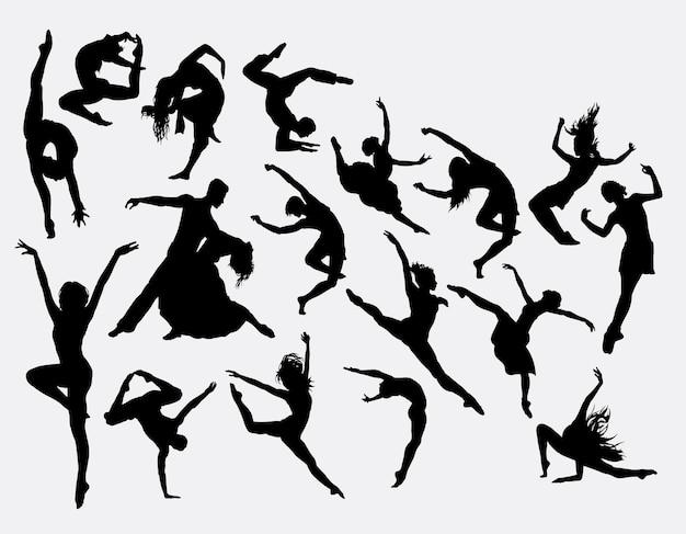 Contemporer tanz silhouette