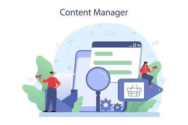 Content-management-konzept.