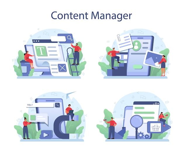 Content-management-konzeptsatz