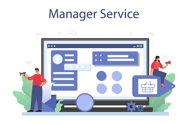 Content management onlinedienst oder plattform.