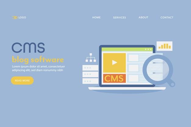 Content management system cms Premium Vektoren