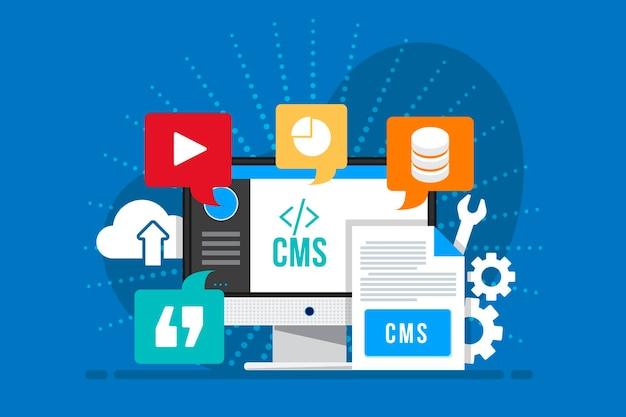 Content management system flach