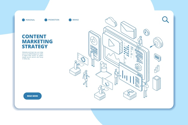 Content marketing landing page vorlage