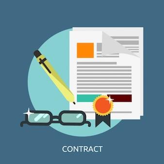 Contract hintergrund design