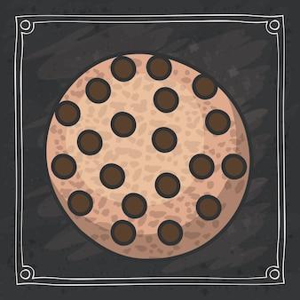 Coockie des bäckereilebensmittelentwurfs