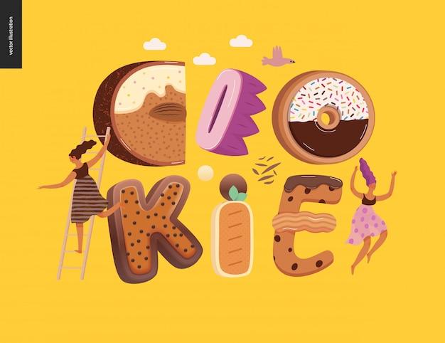 Cookie-schriftzug