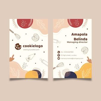 Cookies visitenkarte