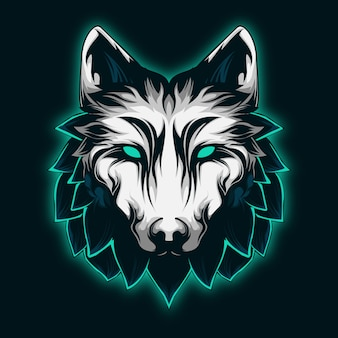 Cool und majestätisch mint wolf