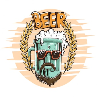 Coole bierillustration