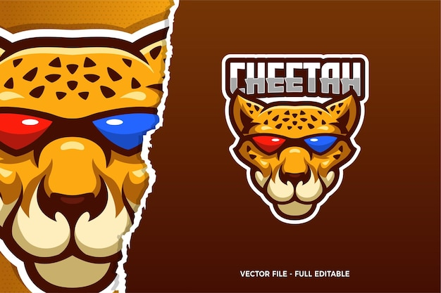 Coole cheetah e-sport logo vorlage