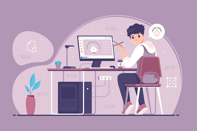 Coole designer charakter illustration