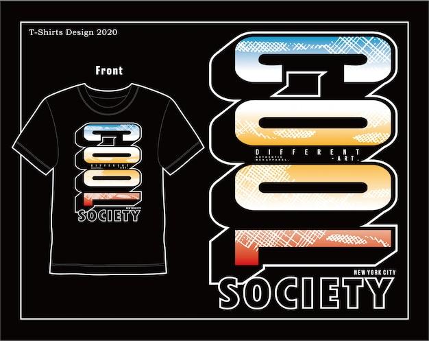 Coole gesellschaft, vektortypografie-illustrationsdesign