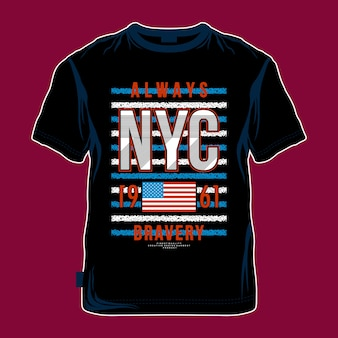 Coole t-shirt entwurfsgraphik nyc