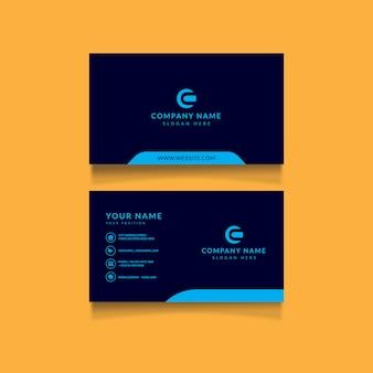 Coole visitenkarte-design-vorlage