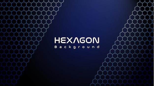 Cooler blauer hexagonhintergrund