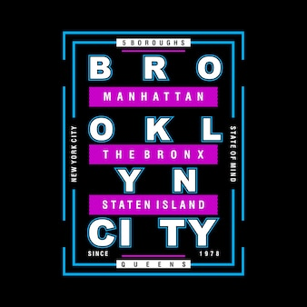 Cooler design-typografievektor brooklyns grafik