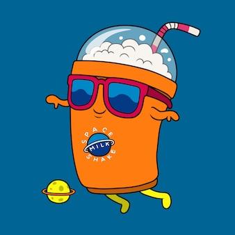 Cooler milchshake-astronaut.