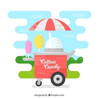 Cooler süßigkeitenwagen im park